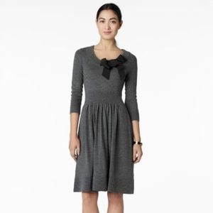Kate Spade Grey Charlie Sweater Dress with Bow